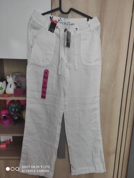 Lniane spodnie Primark XS