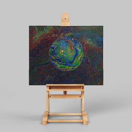 Obraz abstrakcyjny Planeta