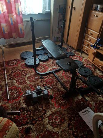 Ławka do ćwiczeń (ponad 100kg obciążenia, sztanga,hantle,modlitewnik)