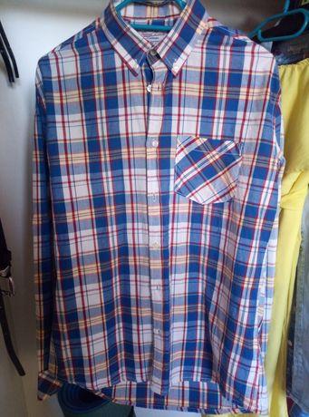 Męska koszula elegancka w kratkę S/M