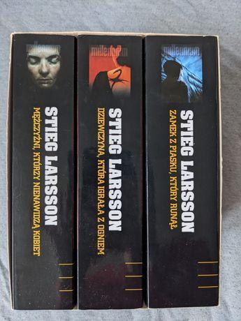 Zestaw Trylogia 3 książki Millenium Stieg Larsson powieść kryminalna