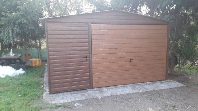Garaże blaszaki Producent Cała Polska drewnopodobny