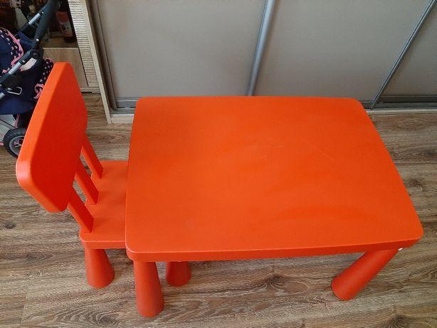 Stolik + krzesełko mammut IKEA