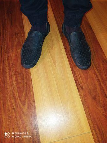 Кожаные мокасины,туфли 43 размер.