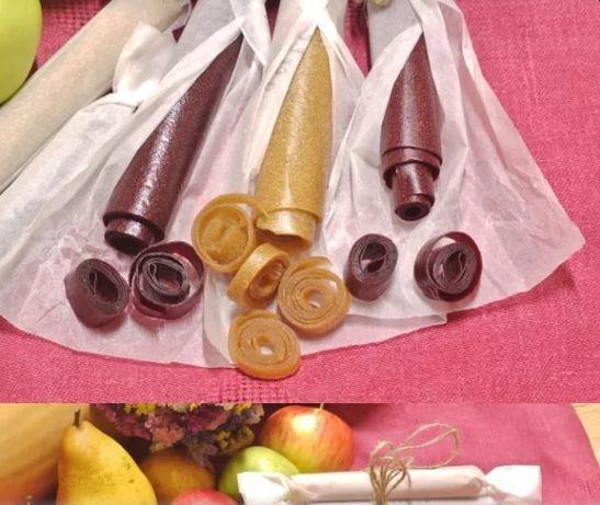 Органічна фруктова пастила, фруктові цукерки,детские фруктовые конфеты