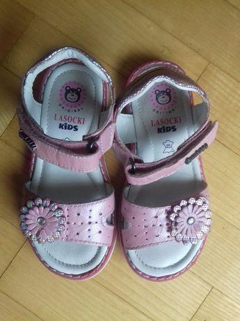 Sandałki skórzane Lasocki j. nowe