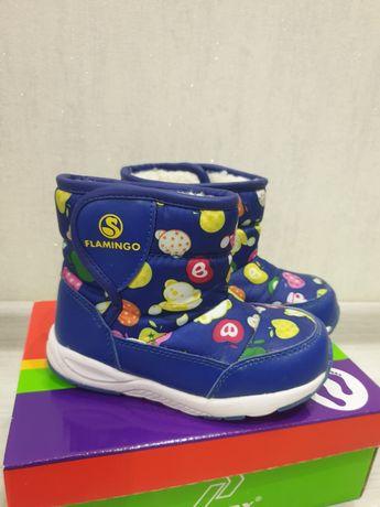 Зимние ботинки на мальчика и девочку, 25 размера