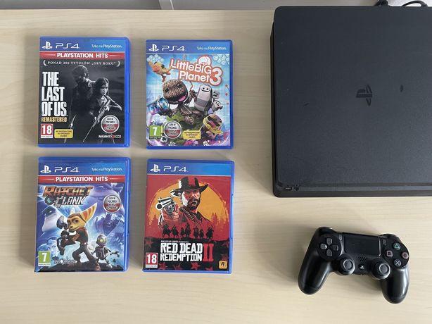 Playstation 4 Slim PS4 dualshock V2 + gry