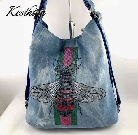 Женская брендовая джинсовая сумка