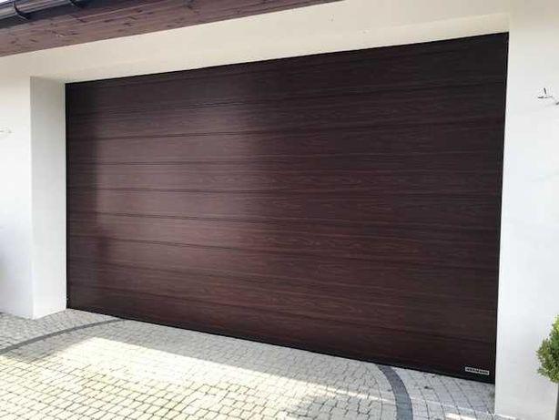 Brama segmentowa HORMANN LPU42 4500x2750, mahoń, Przecena