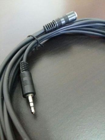 Cabo extensão áudio 3.5mm 5 metros