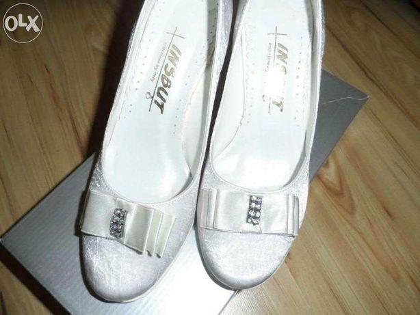 białe buty ślubne INSBUT roz.37