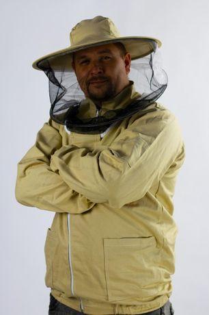 Bluza pszczelarska rozpinana z kapeluszem , odzież pszczelarska