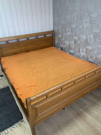 Ліжко 2 місне ,матеріал Дуб
