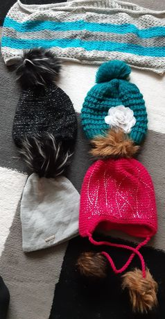 Czapki zimowe dla dziewczynki ( sztuka)