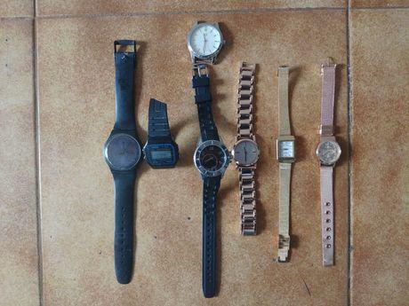 Conjunto de relógios. 6 por 19€