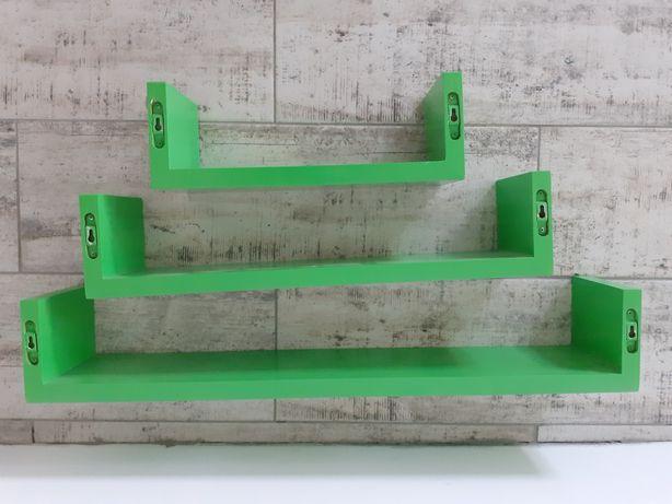Półki drewniane zielone