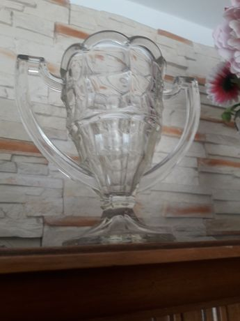 Szkło art deco puchar wazon