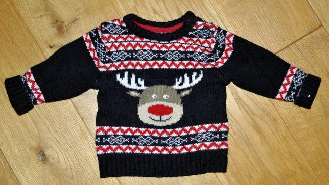 Sweterek świąteczny rozmiar 68