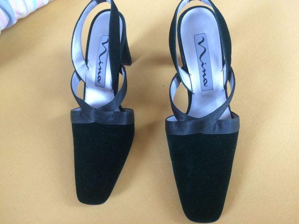 NINA USA luksusowe buty czółenka na paski zielone nowe