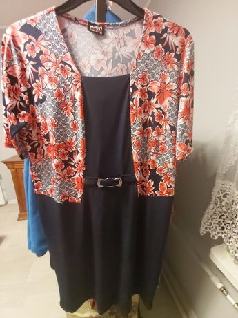 Sukienka w kwiaty 2 w 1
