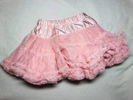 Красивая нарядная юбка розового цвета H&M на девочку 1-2 года