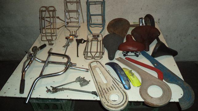 Rower części rowerowe siodełka, bagażniki zabytki