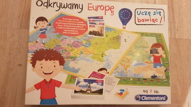 Odkrywamy Europę - Puzzle i Quiz geograficzny Clementoni