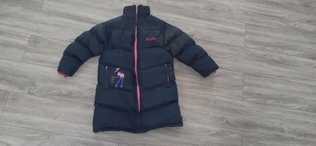 Зимнее пальто удлиненная курточка 4-6 лет