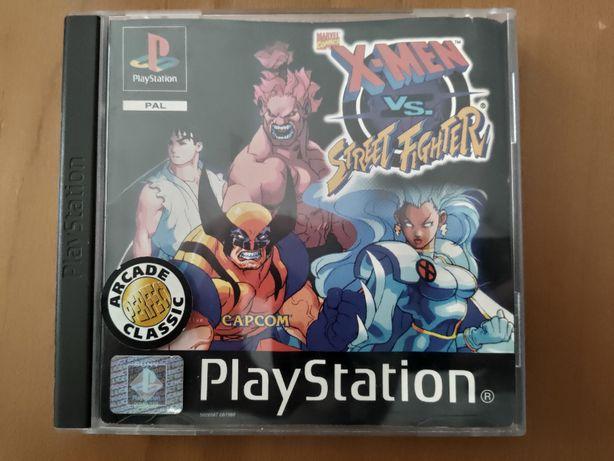 PS1 Marvel X-Men VS Street Fighter Playstation