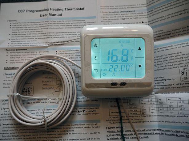 терморегулятор программатор электрического водяного теплого пола котла