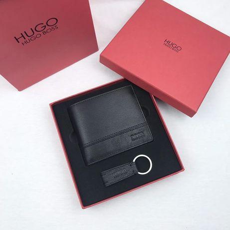 Мужской кожаный кошелек Hugo Boss| гаманець чоловічий, портмоне купить