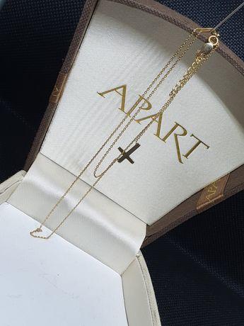 Złoto Złoty Łańcuszek Naszyjnik Celebrytka 585 14-K 1,63 Gr. lombAArd