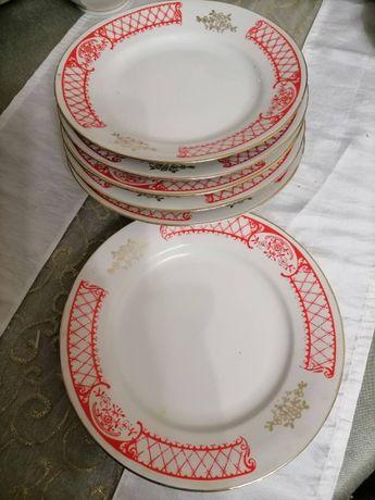 тарелки СССР, красн.с зол.6х30 - идеальные, голубые 15-20 грн(7+6+6)