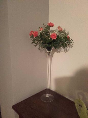 Wazon szklany wysoki kielich martini 60 cm
