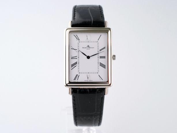 Женские бу часы Baume & Mercier Hampton 18K White Gold 26 x 40мм