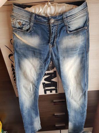 Męskie Spodnie Sprawdź Spodnie Jeans OKAZJA