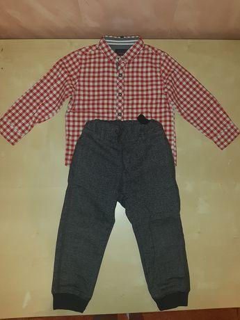 komplet koszula spodnie