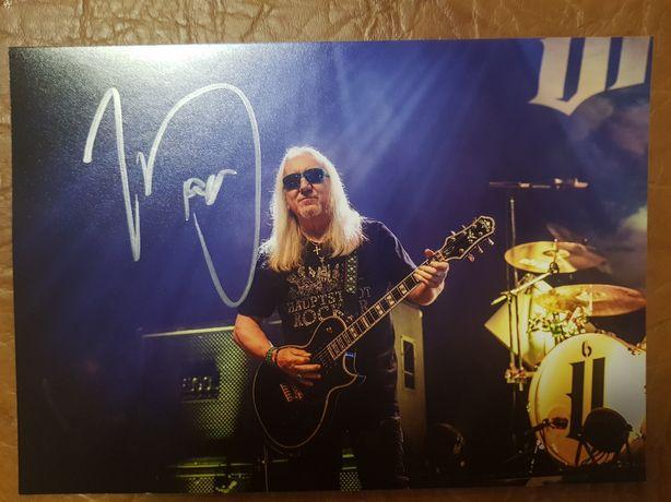 Автограф Мика Бокса (Uriah Heep). Оригинал. Фото А5.