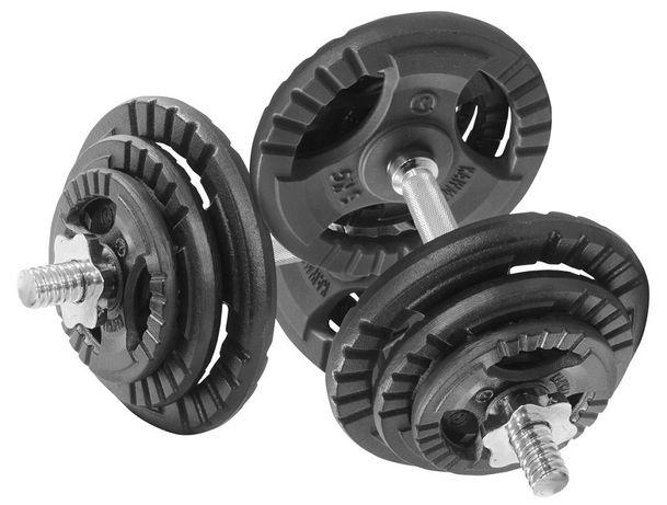 Гантелі розбірні (складальні) KAWMET 2шт по 20кг (40 кг) металеві