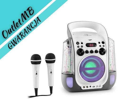 Zestaw karaoke CD USB MP3 efekt świetlny fontanna 2x mikrofon 300402