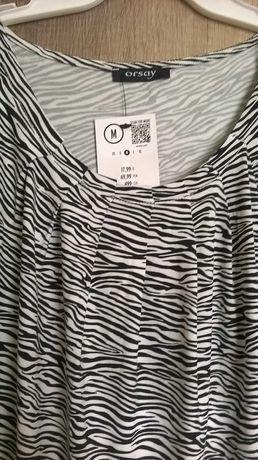Bluzka czarno-biała r.M Orsay