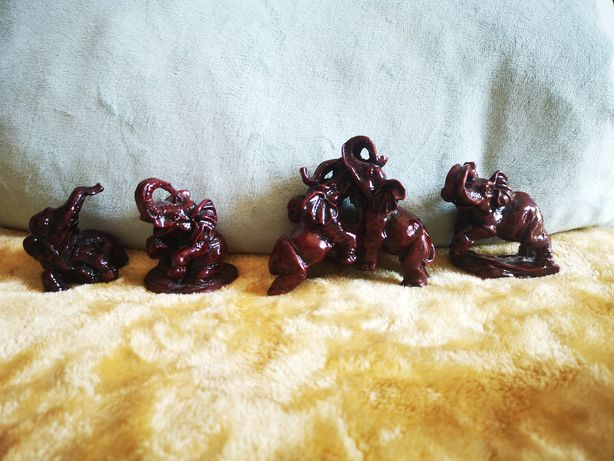 Słoniki z laki figurki