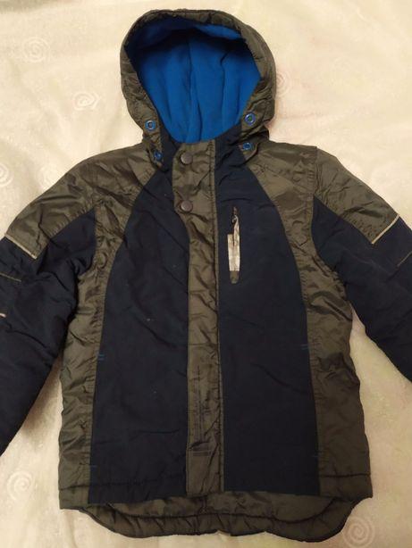 Зимняя куртка парка для мальчика 3-4 года/104 см. +Подарок Шапка