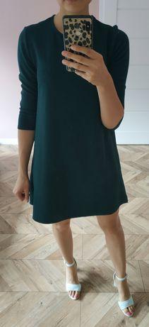 Sukienka trapezowa Stradivarius zielona S