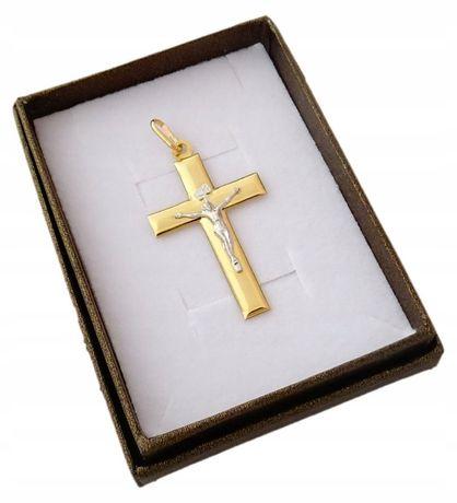 Złoty duży krzyżyk PR. 585. HIT !!!