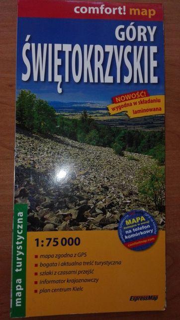 Góry Świętokrzyskie - Super mapa LAMINOWANA