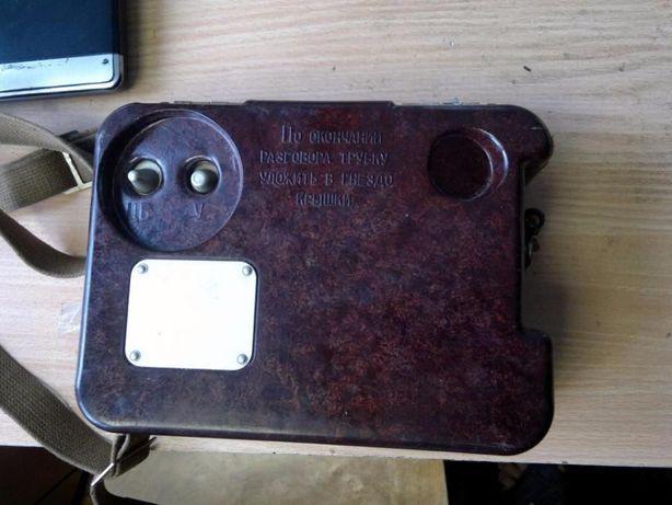 Армейский военно-полевой телефон аппарат радиста ТА-57. ТАИ-43. СССР