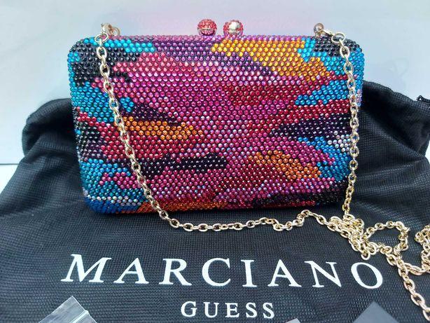 NOWA biżuteryjna torebka GUESS MARCIANO szkatułka wieczorowa