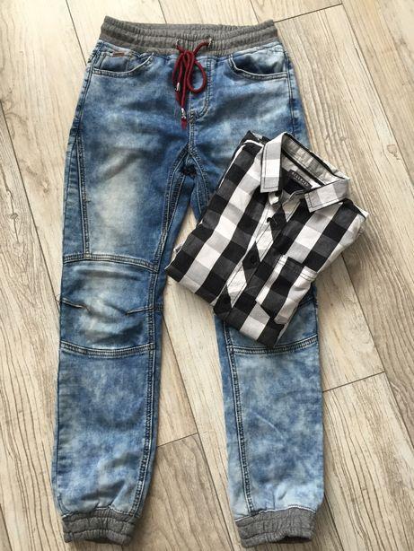 Spodnie baggy jeansowe 146